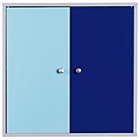 more details on Phoenix 2 Door Storage Unit - Blue on White.