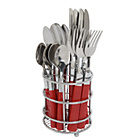 more details on ColourMatch 16 Piece Cutlery Caddy - Poppy Red.