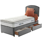 more details on Sealy Repose Cushion Top Single 2 Drawer Divan.