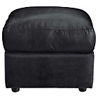 more details on New Alfie Leather Effect Footstool - Black.