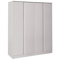 Hygena Inanna 4 Door Wardrobe (Soft Grey)
