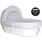 more details on Shnuggle Moses Basket with Covers & Mattress - White.