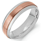 more details on 9ct Rose Gold and Argentium Silver Wedding Ring.