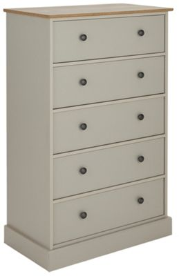 Buy Collection Kensington 5 Drawer Chest Putty Amp Oak