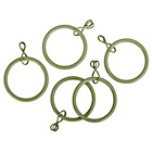 more details on 20 Metal 28mm Curtain Rings  - Cream.
