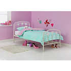 more details on Hearts White Single Bed with Ashley Mattress.