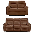 more details on New Paulo Leather Large and Regular Manual Recliner Sofa-Tan