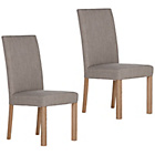 more details on Pair of Schreiber Harbury Upholstered Dining Chairs - Oak.