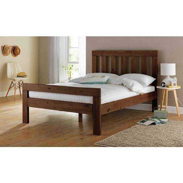 Buy Collection Chile Small Double Bed Frame Dark Stain At Your Online Shop For