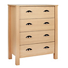 more details on Marlow 4 Drawer Chest - Oak Effect.