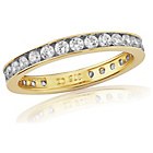 more details on 9ct Gold Cubic Zirconia Eternity Ring - L.