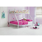 more details on Metal Triple White Bunk Bed with Ashley Mattress.