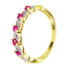 more details on 18ct Gold Plated Sterling Silver Ruby/Diamond Eternity Ring