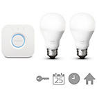 more details on Philips Hue White Ambience Wireless LED Starter Kit - E27.