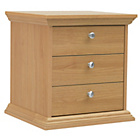more details on HOME Canterbury 3 Drawer Bedside Chest - Oak effect