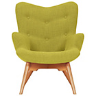 more details on Hygena Angel Fabric Chair - Yellow.