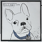more details on Sketchy French Bulldog Canvas.