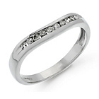 more details on Platinum 0.15ct tw Diamond Set Wedding Ring.