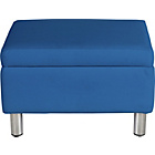 more details on ColourMatch Moda Leather Footstool - Marina Blue.