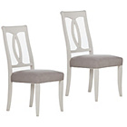 more details on Pair of Schreiber Chalbury Oval Dining Chairs - White.