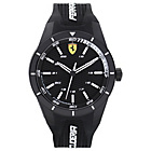 more details on Scuderia Ferrari Men's Red Rev Black Dial Strap Watch.