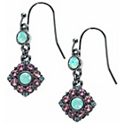 more details on Fiorelli Crystal Pink and Mint Flower Drop Earrings.