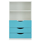 more details on Tolga 3 Drawer Bookcase - Blue.