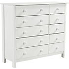 more details on New Scandinavia 5+5 Drawer Chest - White.