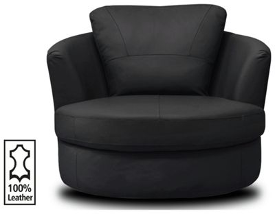 Buy Collection Milano Leather Swivel Chair Black at  : 4972725RSETTMBampwid620amphei620 from www.argos.co.uk size 620 x 620 jpeg 19kB