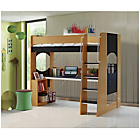 more details on Large Desk Study Highsleeper Bed Frame - Beech.
