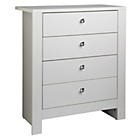 more details on Vienna 4 Drawer Chest - White.