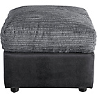 more details on HOME New Bailey Leather Eff Jumbo Cord Storage Cube-Charcoal