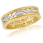 more details on 9ct Gold Plated Sterling Silver Commitment Ring - V.