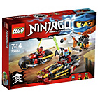more details on LEGO Ninjago Ninja Bike Race Playset.
