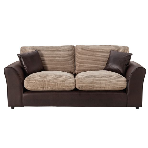 buy home new bailey large jumbo cord sofa natural at your online shop for sofas. Black Bedroom Furniture Sets. Home Design Ideas