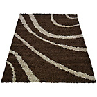 more details on Verve Waves Rug 160x230cm - Chocolate.