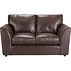 more details on New Alfie Leather Effect Regular Sofa - Chocolate.