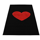 more details on Sparkle Heart Rug 80x150cm - Black and Red.