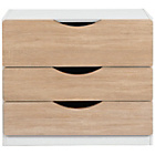 more details on Tolga 3 Drawer Chest - Oak.