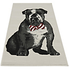 more details on Sparkle Dickie Bow Bulldog Rug 80x150cm - Red.