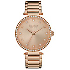 more details on Caravelle New York Ladies Rose Gold Stone Set Bracelet Watch