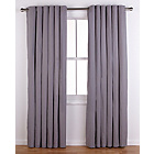 more details on ColourMatch Lima Eyelet Curtains - 117x183cm - Smoke Grey.
