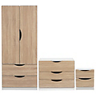 more details on Tolga 3 Piece 2 Door Wardrobe Set - Oak Effect.