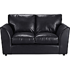 more details on HOME New Alfie Regular Leather Effect Sofa - Black.