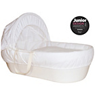 more details on Shnuggle Cream Moses Basket with White Covers and Mattress.