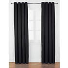 more details on ColourMatch Lima Eyelet Curtains - 117x183cm - Jet Black.