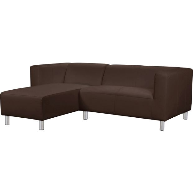 Buy Colourmatch Moda Leather Effect Left Corner Sofa Choc At Your Online Shop