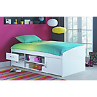 more details on Yanniek White Cabin Bed with Elliott Mattress.