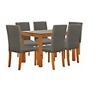 more details on Harborne Oak Stain 150cm Dining Table & 6 Charcoal Chairs.