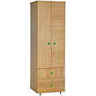 more details on Habitat Pod Kids Oak Double Wardrobe with Drawers